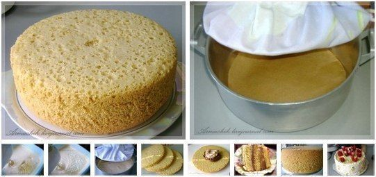 Высокий, нежный бисквит для торта (Без духовки) | Про рецептики - лучшие кулинарные рецепты для Вас!