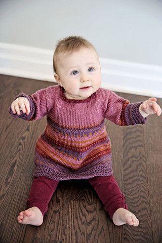 Gypsy Wools - Rosie Baby Dress Knitting Pattern   Knit One Crochet Too