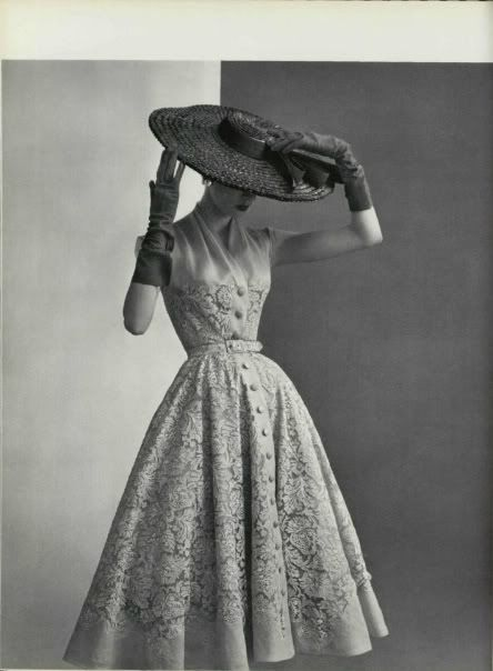 by Pierre Balmain (1950s): Hats, Inspiration, 1950S, Vintage Fashion, Dresses, Vintage Dress, 1950 S, Vintage Style