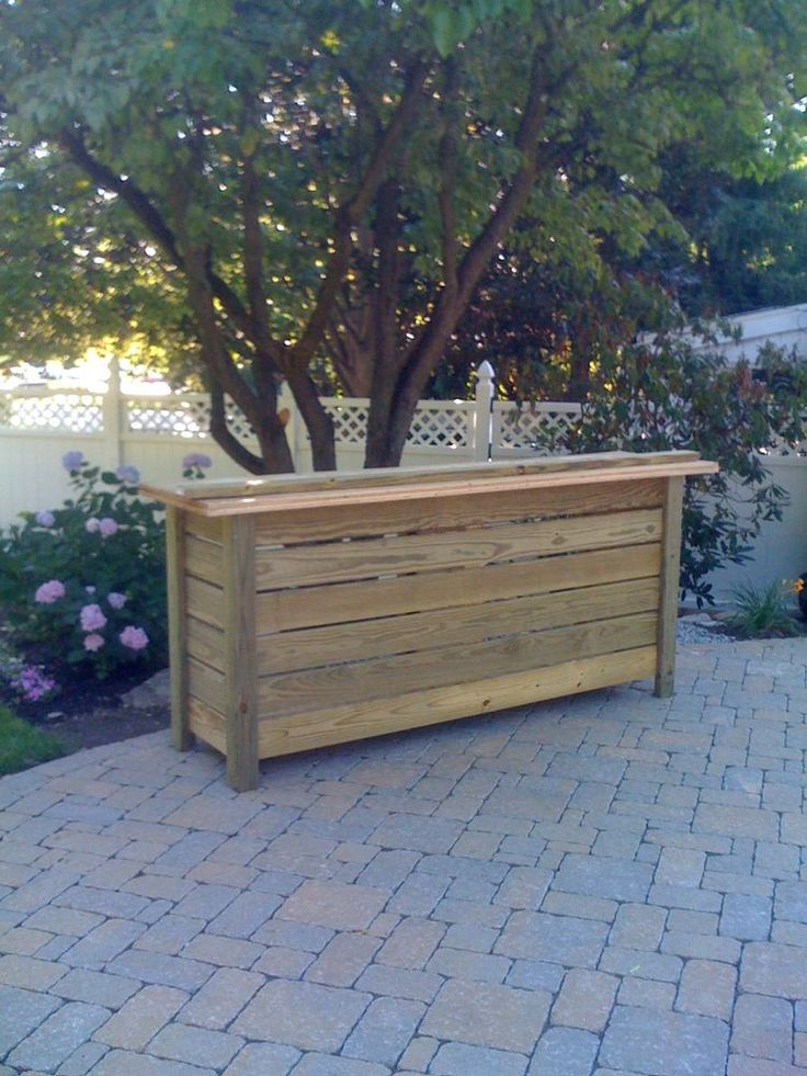 Free standing bar would be cool made with reclaimed wood for Outdoor bar plans designs free