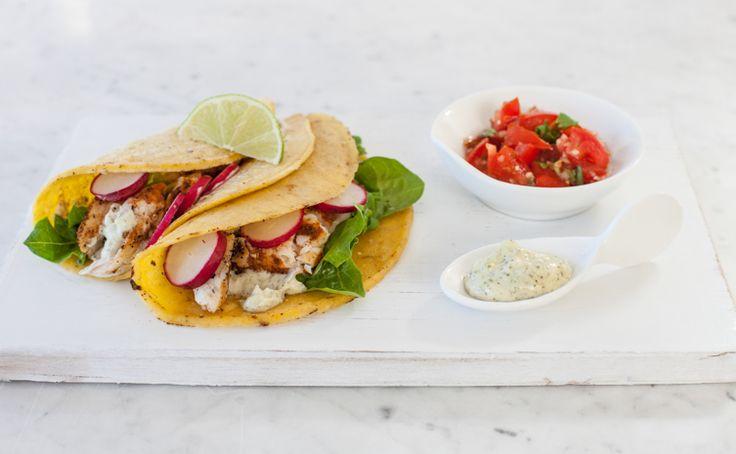 #Epicure Fish Tacos with Lemon Basil Aioli