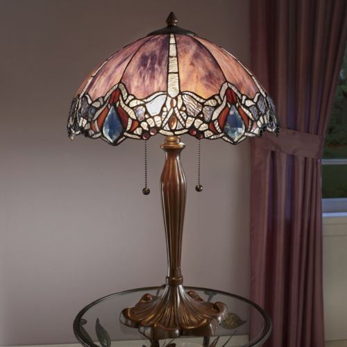 Elegant stained glass globe lamp from seventh avenue