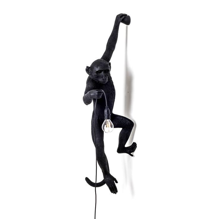 MONKEY - Applique Singe accroché Exterieur Noir H76,5cm Seletti