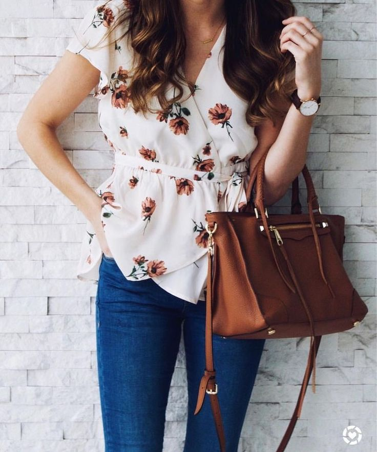 I like this cut blouse with the wrap v cut baby doll waist