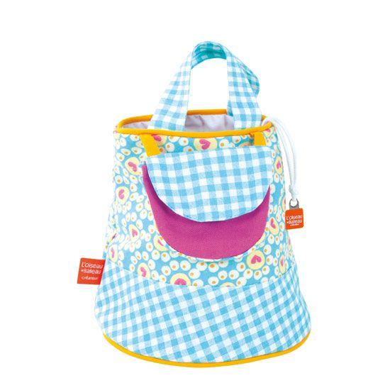 Flower blue bag, created in France for little girls to love.  www.spiritedmama.com
