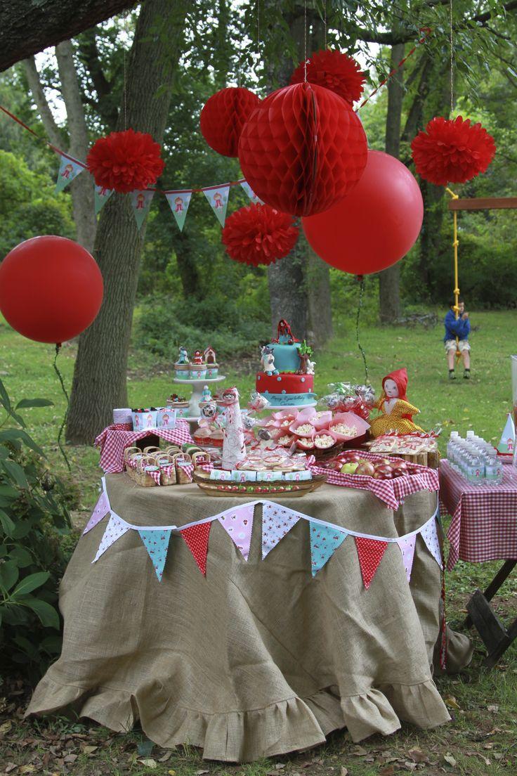 Red Riding Hood Dessert Table