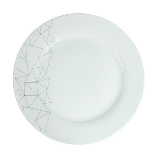 FINLANDEK Service Porcelaine 18 pieces KAPRIS MCD : prix, avis & notation, livraison.  FINLANDEK Service Porcelaine 18 pieces KAPRIS comprenant 6 assiettes plates Ø27cm, 6 assiettes creuses Ø20cm et 6 assiettes a dessert Ø19cm - Compatible avec le four, le micro-onde et le lave-vaisselle - Livraison en emballage MAILBOX pour une sécurité optimale.