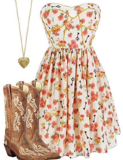 Country Girl Flower Dress