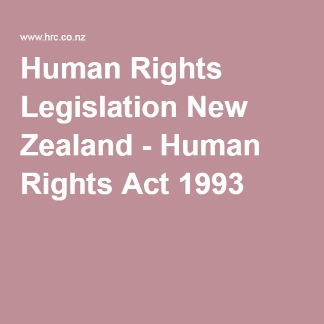 Human Rights Legislation New Zealand - Human Rights Act 1993