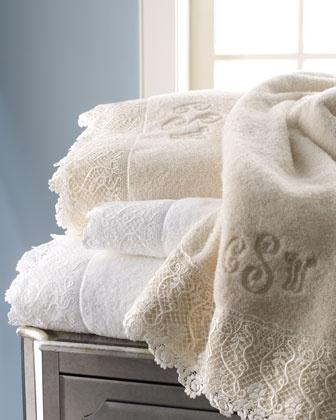"""Matouk """"Callista Lace"""" Towels - Horchow"""