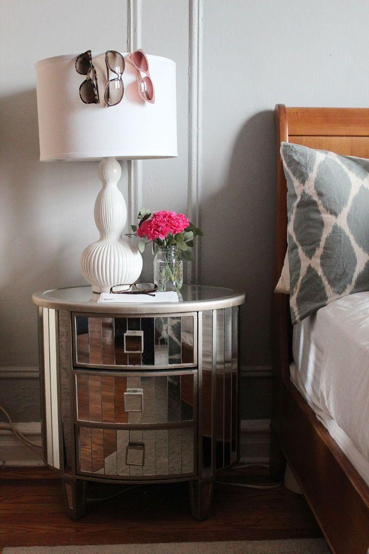 Katie U0026 Mattu0027s Washington Heights Home U2014 House Tour. Mirrored Side  TablesBedside ...