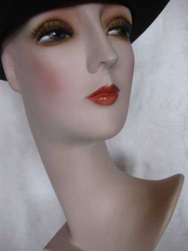 art deco buste dekokopf vintage tete chapeau mannequin head buste hut kopf bust store. Black Bedroom Furniture Sets. Home Design Ideas