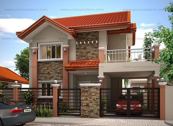 Modern house designs such as MHD-2012004 has 4 bedrooms, 2 baths and 1 garage stall. The floor plan features of this modern house design are, covered front porch, balcony over garage, walk-in clo…