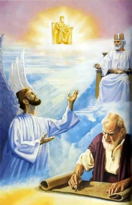 From Jehovah to Jesus to an Angel to the Bible Writer. Revelation chapter one, verse 1.