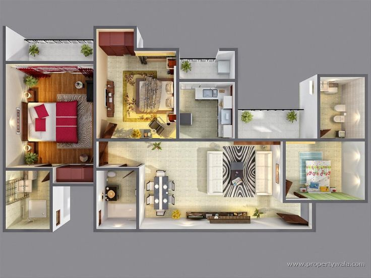 Best 25+ 3d House Plans Ideas On Pinterest | Sims 3 Apartment, Apartment  Floor Plans And Sims 4 Houses Layout