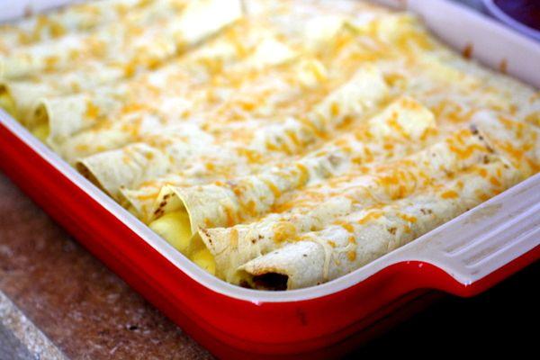 Breakfast enchiladas - do with gf flour and corn or tapioca tortillas ...