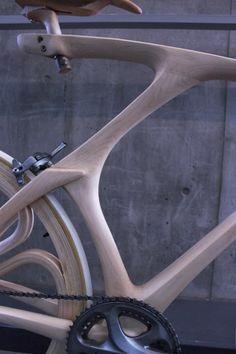 Bicicleta de madera | Café bicicletas | Imaginación ciclística