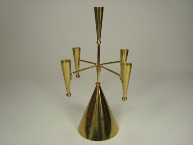 Brass candlestick by Gunnar Ander