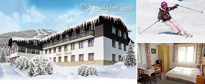 3–6 dní v Krkonoších s polopenzí nejen pro lyžaře Ubytování pro dva na 2 či 5 nocí s polopenzí. Perfektní podmínky pro lyžování, snowboard. Možnost sauny i fitness. Děti do 3 let zdarma.