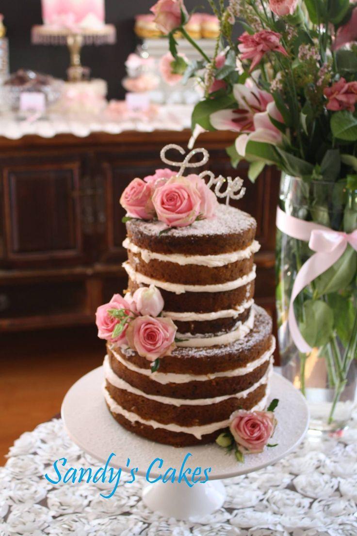 Naked baby shower cake. Hummingbird cake with lemon ...