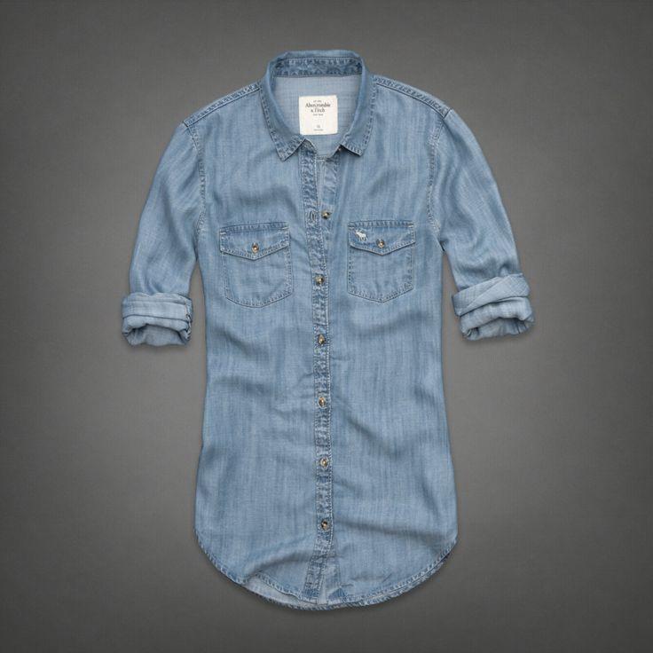 Womens Haven Denim Shirt | Womens Shirts | Abercrombie.com