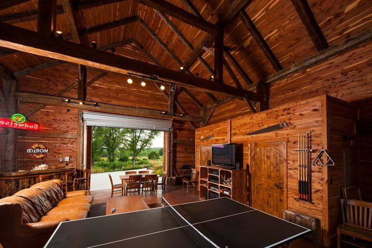 Rustic man cave ideas family room farmhouse with man cave neon signs ping pong