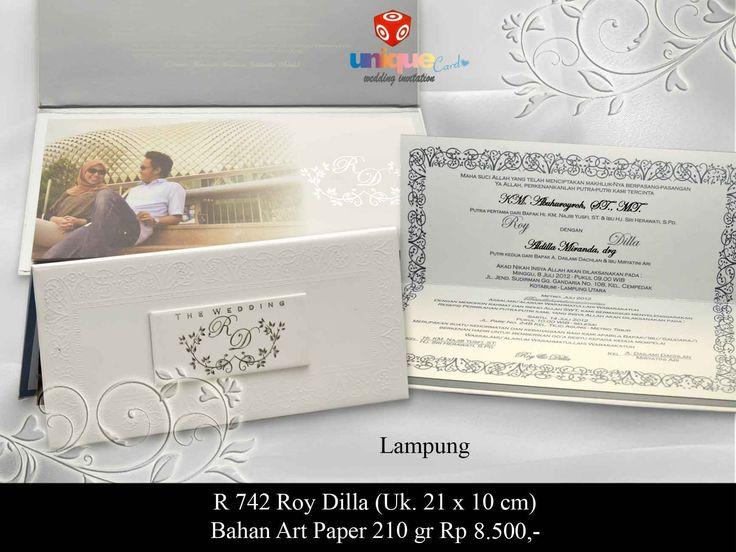 Undangan Pernikahan – R742 || Unique Card Wedding Invitation