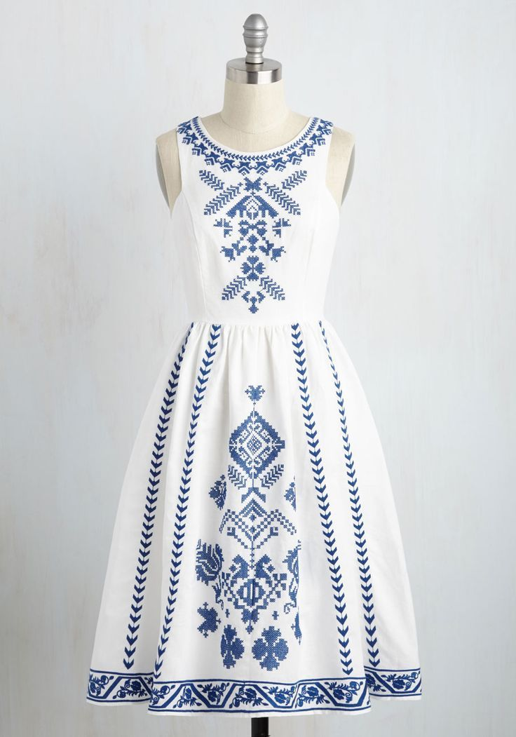 Cross-Stitch My Heart Dress - LOVE the Santorini style, the slightly longer length and the clean while color. Perfect summer dress for a great price - blue and green dress, long formal dresses, evening dresses online *sponsored https://www.pinterest.com/dresses_dress/ https://www.pinterest.com/explore/dress/ https://www.pinterest.com/dresses_dress/bridesmaid-dresses/ http://shop.nordstrom.com/c/womens-dresses-shop