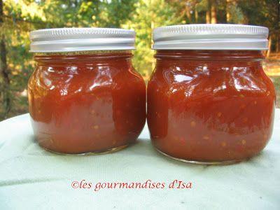 Les gourmandises d'Isa: sauce Chili maison, gelée de pommettes, ketchup rouge maison