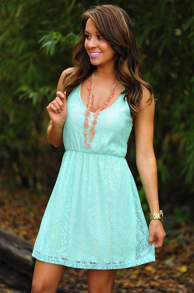 Feeling So Alive Dress: Mint | Hope's