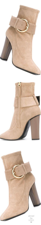 GIUSEPPE ZANOTTI DESIGN  square toe ankle boots Nude | LOLO❤︎