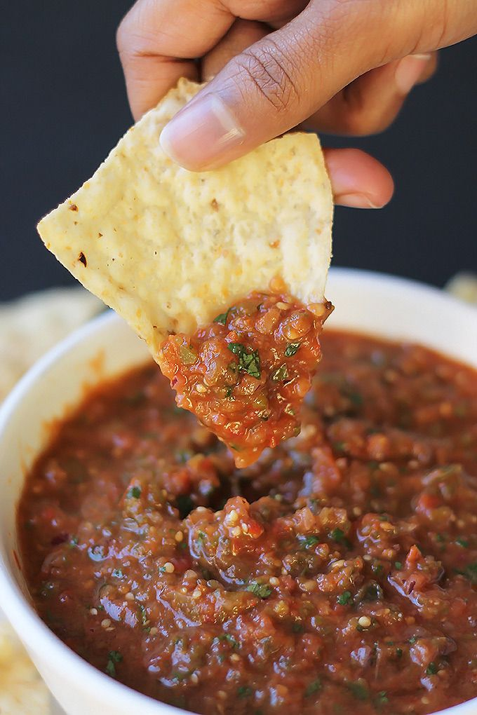 Roasted Tomatillo & Tomato Salsa | The Whole Serving