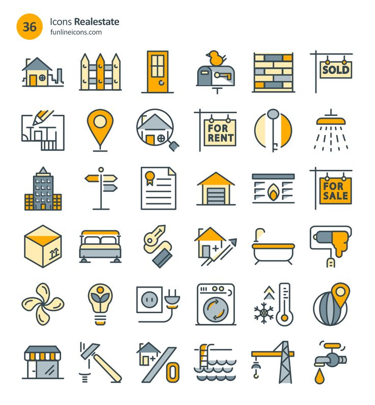Home Appliance And Real Estate Icons (72 Icons, AI, CSH, EPS, SVG, Webfont, Sketch)
