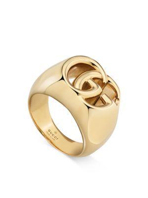 3e48891141e GUCCI 18K Yellow Gold Running G Band Ring.  gucci