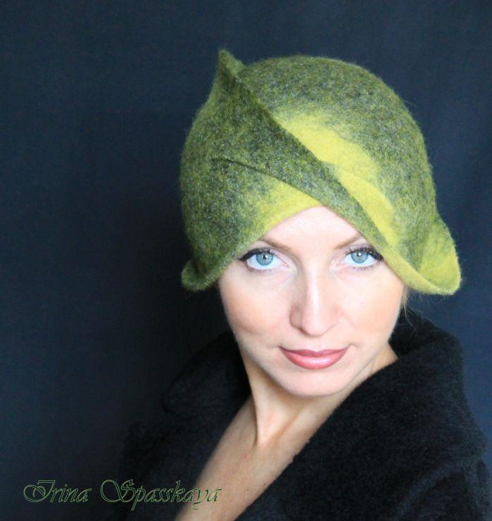 "Gallery.ru / Клош ""Камни, мох и солнце"" - Шляпки. Hats. - irina-spasskaya"