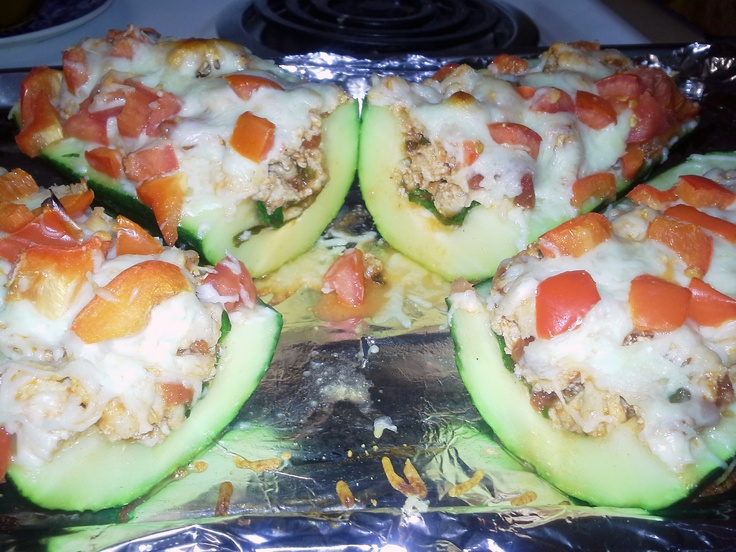 Pizzucchini | Zucchini Pizza Boats, Zucchini Pizzas and Roommate