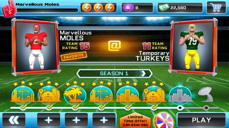With no rules, you can super charge your way along the gridiron throwing, spinning and juking to the end zone.