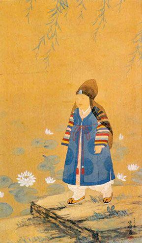 운복 김기창 1932 동자