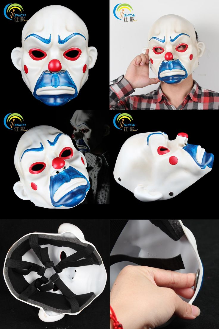 [Visit to Buy] Mask Clown Robbers Batman Joker Movie Theme for Party Halloween Christmas Cosplay Resin Mask Adults Full Face Free Shipping #Advertisement