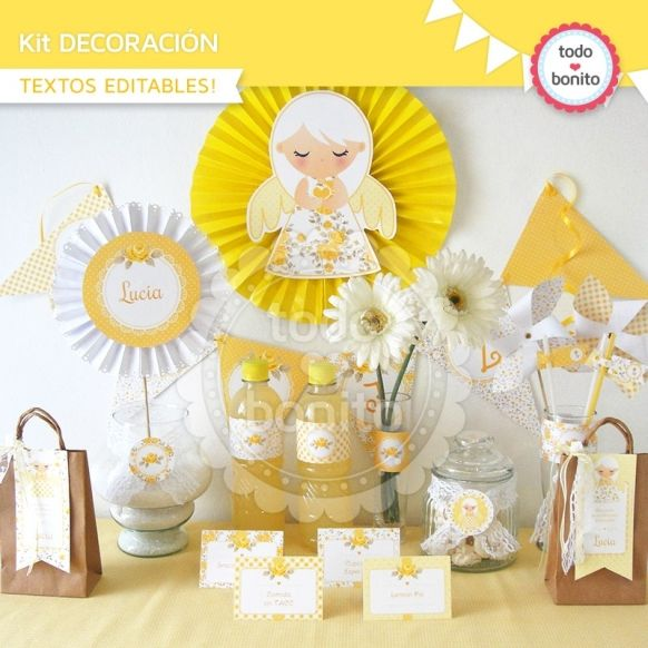 Shabby Chic amarillo: kit decoración