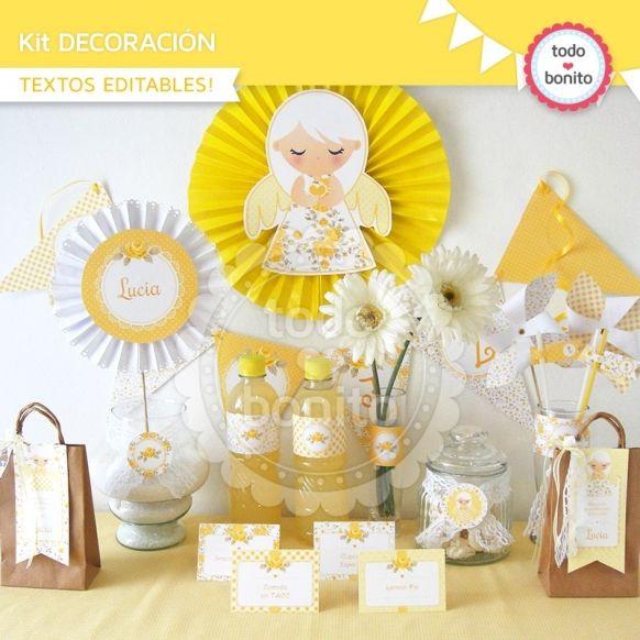 Shabby Chic amarillo: kit decoración