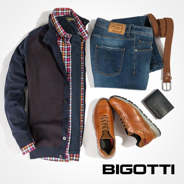 The #plaid #shirt, #knitted #jacket and the #jeans – #pieces you can #wear right in #smart #combinations during the #week and #casually in #weekends.  www.bigotti.ro #mensfashion #fashiontag #menswear #mensclothing #mensstyle #moda #barbati #stilmasculin #ootdmen