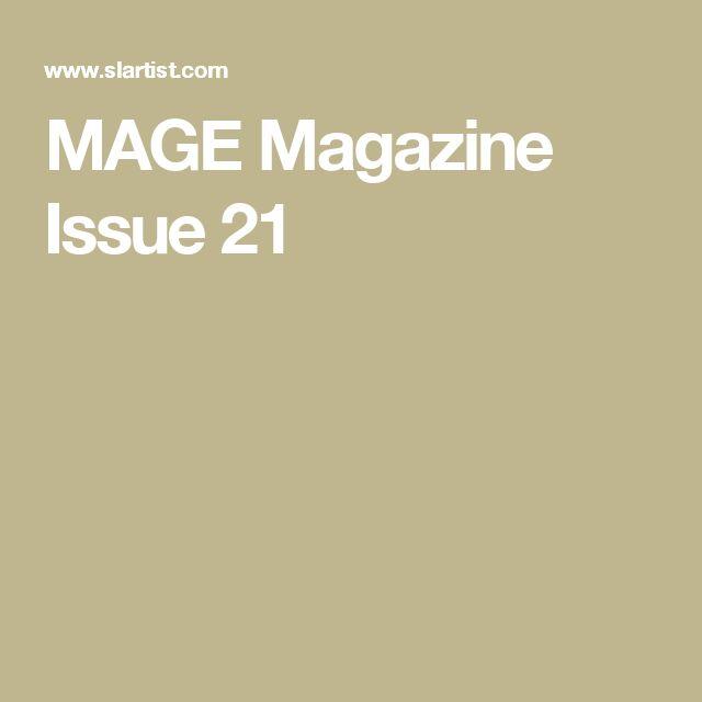 MAGE Magazine Issue 21