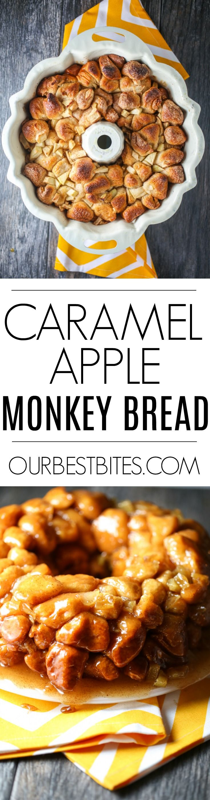 Monkey Bread: Apples. Fall spices. Caramel Apple Monkey Bread only takes a few minutes more than the traditional version and it's a fun (and amazing) fall variation on the original! via @ourbestbites