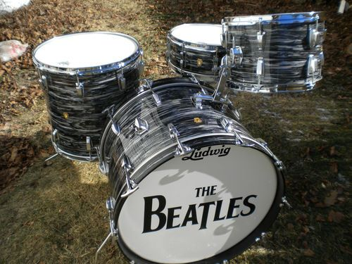 "1964 Ludwig Black Oyster Pearl Drum Kit ""Beatles"" 