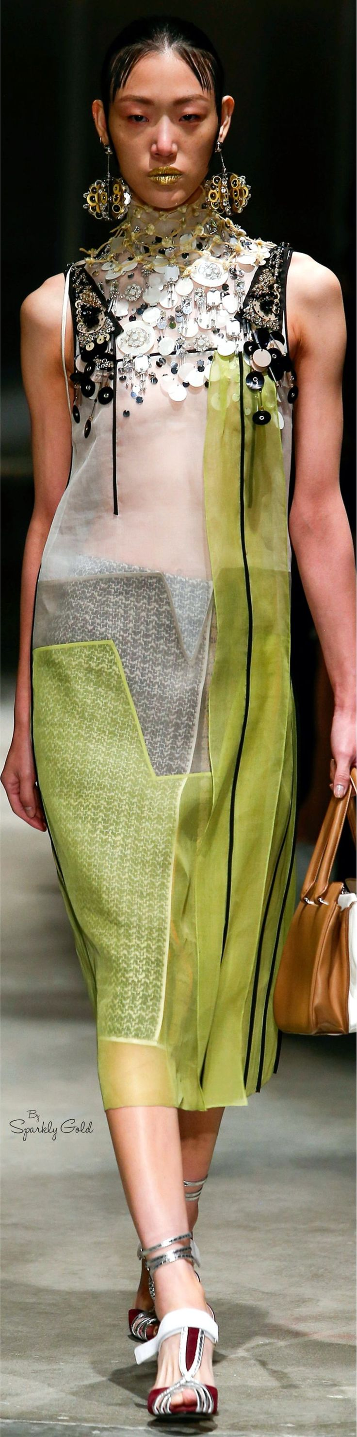 Prada Spring 2016 RTW women fashion outfit clothing style apparel @roressclothes closet ideas