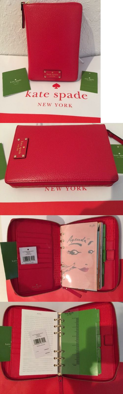 Organizers and Day Planners 15735: Nwt Kate Spade Wellesley Leather Personal Organizer Zip 2017 Planner Cherry Red -> BUY IT NOW ONLY: $77 on eBay!