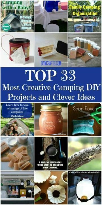 If you're planning on camping this summer, here are some ideas of fun projects to do.