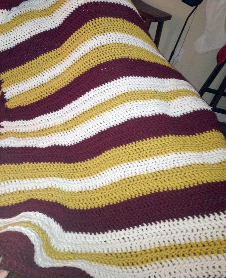 Redskins Crochet Blanket Crochet Patterns Crochet