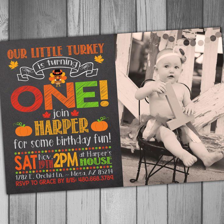 Thanksgiving Birthday  Little Turkey Girl Birthday Boy Birthday 1st Birthday…